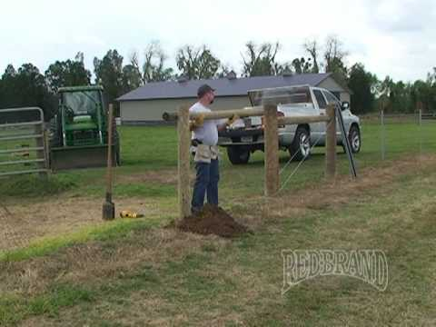 Field Fence Installation Part 1 Of 2 Youtube