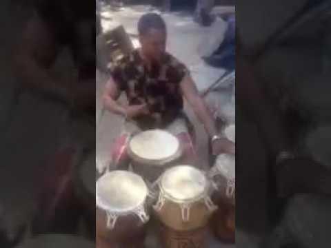 Tsooboi Ensemble - Alex Mensah, Leader Of Tsooboi Ensemble On African Drums!!!