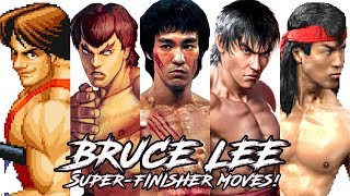 """TOP 10 """"BRUCE LEE"""" Style Super/FinisheR Moves in Fighting Games!"""