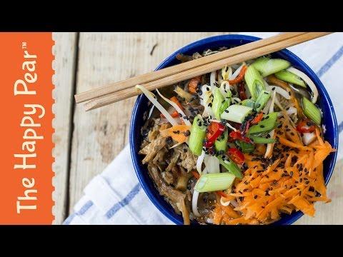 How to make Ramen Noodles! Happy Pear vegetarian Ramen Recipe