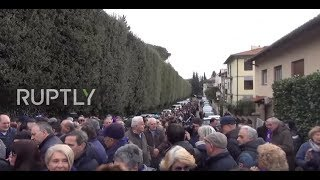 Italy: Fiorentina players and fans pay homage to former captain Davide Astori