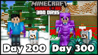 I Survived 300 Days In Hardcore Minecraft... Here's What Happened