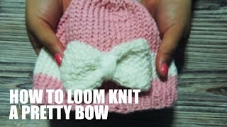 How to Loom Knit a Pretty Bow