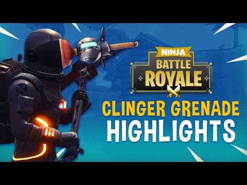 New Clinger Grenade Highlights!! - Fortnite Battle Royale Highlights - Ninja