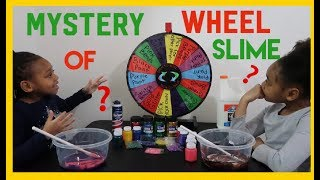 Mystery Wheel Of Slime Challenge (FAIL) With Janiyah And Aaliyah