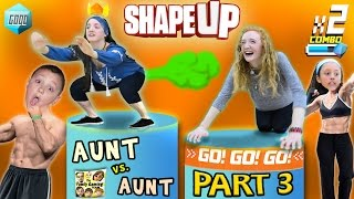 FGTEEV Aunts Work Out! SHAPE UP Pt. 3:  Fitness Challenge Competition Family Fun!