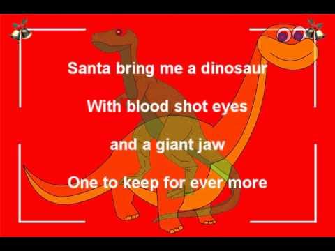 Santa bring me a dinosaur-Funny Christmas song by Bob Brown