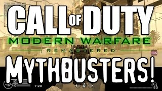 OUT OF THE MAP GLITCHES!? (Call of Duty: Modern Warfare Remastered Mythbusters)