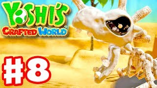 Yoshi's Crafted World - Gameplay Walkthrough Part 8 - Dino Desert 100%! Skelesaurus Wrecks!