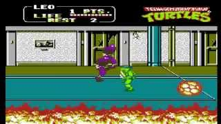 TMNT 2 The Arcade Game cheat codes for Nintendo (NES) 9 Lives and Stage Select