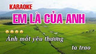KARAOKE | Em Là Của Anh - Hồ Việt Trung | Beat Chuẩn