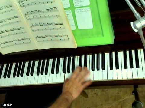 La nota sol en el piano.