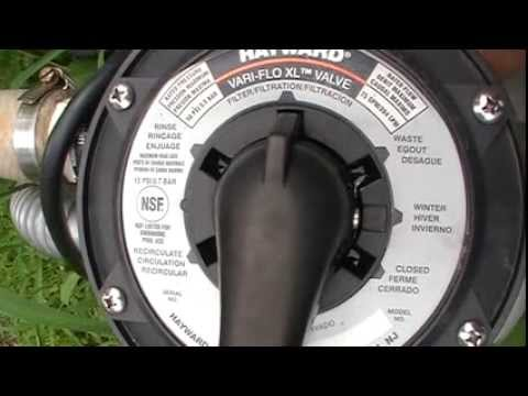 How To Backwash And Clean Above Ground Sand Pool Filter