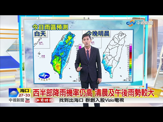 今夏至西半部持續有雨 雨勢逐漸緩