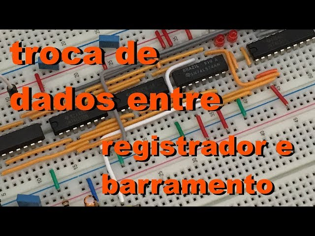 TROCA DE DADOS ENTRE REGISTRADOR E BARRAMENTO | Conheça Eletrônica! #047