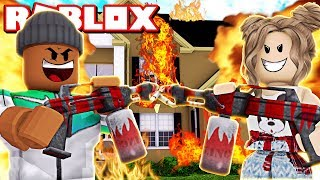 *NEW* BURNING DOWN A $500,000 HOUSE IN ROBLOX