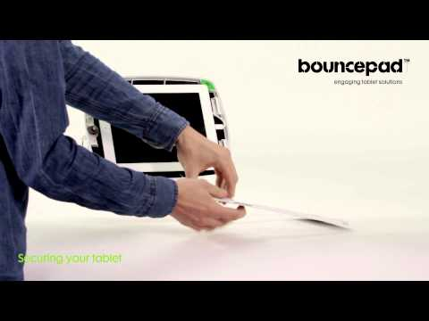 Secure tablet and iPad stand: How to lock in your tablet - Bouncepad