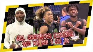 🔥 2019 National Combine WR vs DB 1 on 1s 🔥 - All American Combine is San Antonio is LIT!