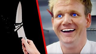 TOP 10 GORDON RAMSAY KNIFE MOMENTS!!!