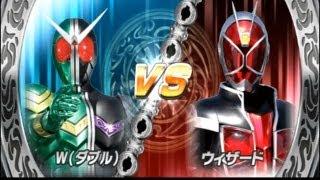 Kamen Rider Super Climax Heroes (Double) vs (Wizard) HD