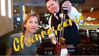 Churrascaria: Churrasco style Brazilian meat buffet in Rio de Janeiro, Brazil