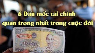 6 Dấu mốc tài chính quan trọng nhất trong cuộc đời | Tài chính 24H