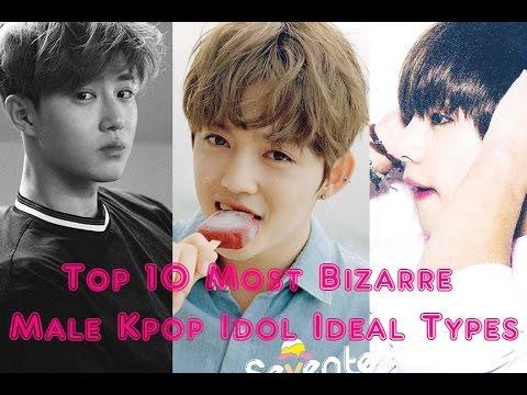 [TOP 10] Top 10 Most Bizarre Kpop Male Idol Ideal Types