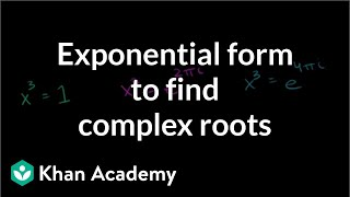 Exponential form to find complex roots