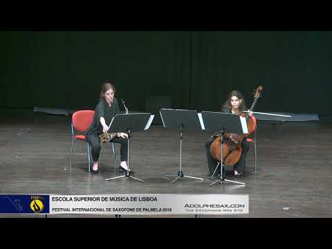 FISPalmela 2019 Escola Superior de Musica de Lisboa Sonate by Edison Denisov SAx & Cello