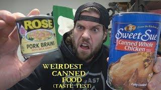 The Weirdest Canned Food Taste Test Challenge | L.A. BEAST