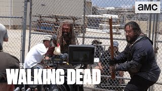 'Epic Battle-Axe Stunt' Behind the Scenes Ep. 804 | The Walking Dead