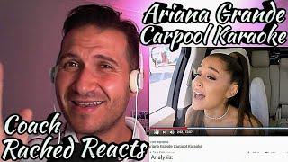 Vocal Coach Reaction + Analysis - Ariana Grande - Carpool Karaoke