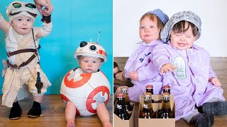 Mom Dresses Twin Baby Girls in Costumes Daily for Month Leading Up to Halloween