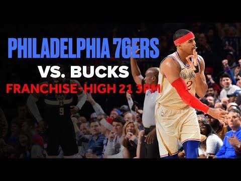 76ers Hit Franchise Record 21 3PTs vs. Bucks | Christmas Day Highlights
