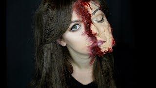 GetTheLouk - Roztržený Obličej | Halloween Makeup Tutorial - Zdroj: