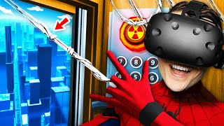 NEW Becoming SPIDER-MAN In VIRTUAL REALITY ELEVATOR (Floor Plan VR Funny Gameplay)