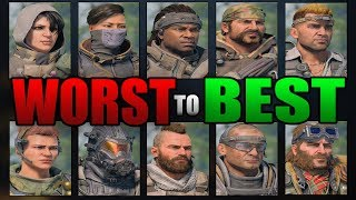 Black Ops 4: Ranking All Specialists Characters From WORST to BEST