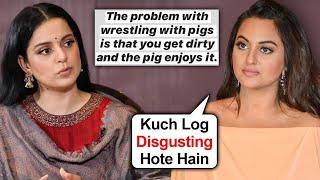 Sushant death: Actress Sonakshi Sinha calls Kangana a 'pig..