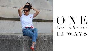 One Tee Shirt: 10 Ways | Seasonless Capsule Closet | Minimalism