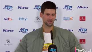 "Novak Djokovic Press Conference After Lose - ""He´s a role model for me"""