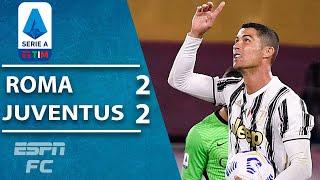 Cristiano Ronaldo rescues 10-man Juventus in 2-2 draw vs. Roma | ESPN FC Serie A Highlights