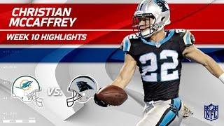 Christian McCaffrey's 2 TD Game vs. Miami! | Dolphins vs. Panthers | Wk 10 Player Highlights