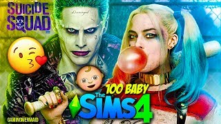 HARLEY QUINN AND JOKER   The Sims 4: 100 Baby Challenge - Ep. 1