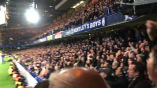 Chelsea fans celebrate Leicester winning the Premier League (vs Tottenham)