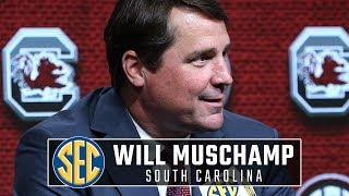 What South Carolina's Will Muschamp said at SEC Media Days 2019