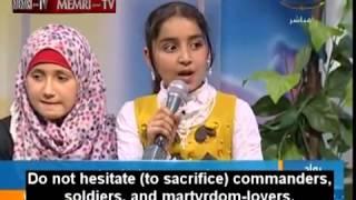 Hamas TV show has Gaza children sing praises of suicide bombing