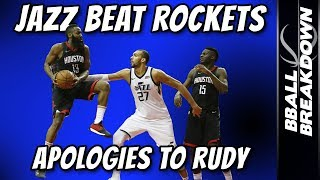 Jazz Beat Rockets In Game 2, Apologies To Rudy Gobert