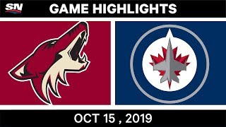 NHL Highlights | Coyotes vs. Jets – Oct. 15, 2019