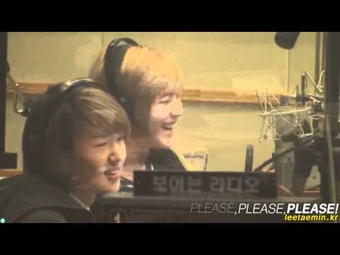 101025 Taemin laughing at Jonghyun's Imitation of Wheesung's Insomnia @ Sukira