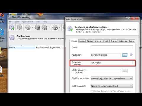 How to Run Nginx as a Windows Service (8/2012/7/2008/Vista